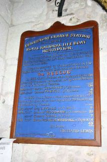 Brighstone St Mary RNLI plaque 2