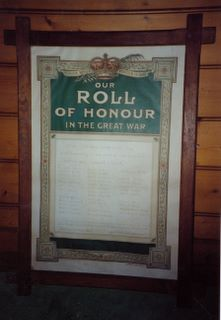 Chale Blackgang Mission Roll of Honour