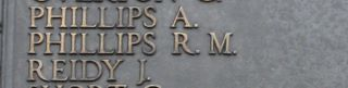 Tower Hill Memorial : R M Phillips