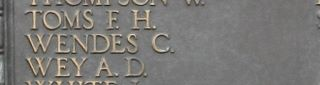 Tower Hill Memorial : C Wendes