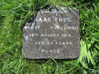 Whippingham St Mildred's Churchyard : Isaac Foss